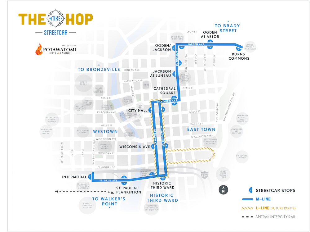 The HOP Street Map of Milwaukee