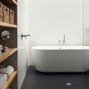 Bath inside Stand Up Shower