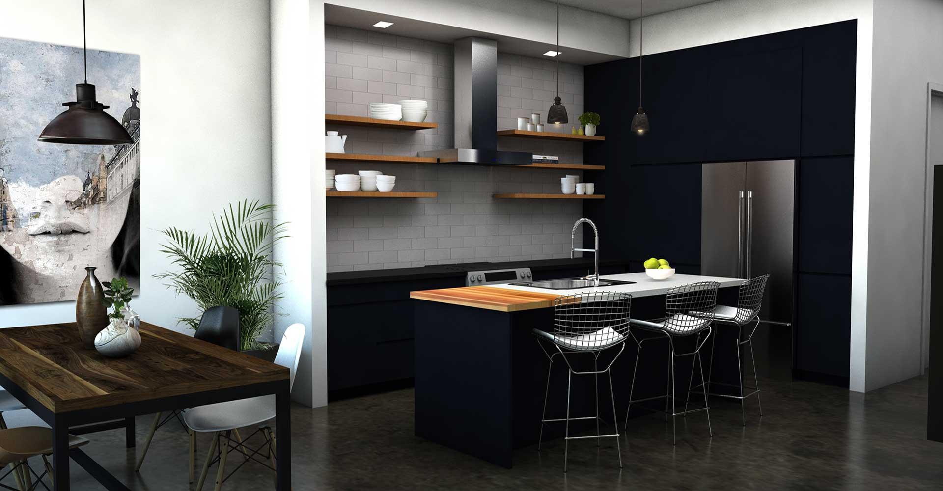 Kitchen Base Rendering Image