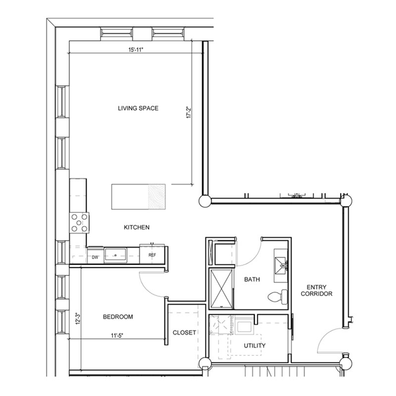 1 large bedroom and living space apartment for rent