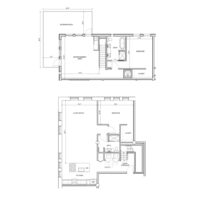 2 Bedroom Penthouse 2 Walk In Closets